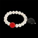 bracelet, white pearls