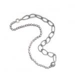 necklace, grey pearls