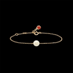 baby bracelet gold, white sapphire and mother pearl