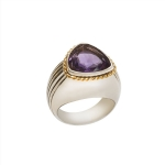 Ring Go-wear trillion amethyst