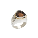 Ring Go-wear trillion smokey quartz