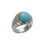Ring Go-wear aqua marine