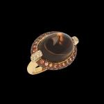 ring smoked quartz
