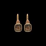 earrings smoked quartz