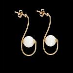 Boucles d'oreilles or et perles fines